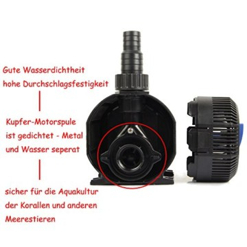 CQB-2000 Super ECO 35W 2300l/h Teichpumpe Bachlaufpumpe mit Keramik Achse -