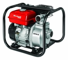 Einhell Benzin Wasserpumpe GE-PW 45 (4,8 kW, max. 23000 l/h, max. Förderhöhe 26 m, inkl. umfangreiches Adapter-Zubehör und Saugkorb) -