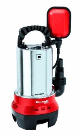 Einhell Schmutzwasserpumpe GH-DP 6315 N (630 W, max. 17000 l/h, max. Förderhöhe 8 m, Fremdkörper bis 15 mm, Edelstahl-Pumpengehäuse) -