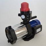 Hauswasserautomat Gartenpumpe 5-stufig, Multi 1300 INOX 1300Watt Förderleistung 5400 L/h 6 bar robuste und rostfreie Edelstahlwelle integrierter thermischer Motorschutzschalter + Pumpensteuerung Brio SK13 mit Trockenlaufschutz. -