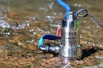 T.I.P. 30116 Schmutzwasser Tauchpumpe Maxima 300 SX Edelstahl, bis 18.000 l/h Fördermenge -