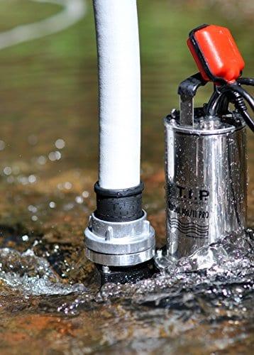 T.I.P. 30168 Profi Schmutzwasser Tauchpumpe und Baupumpe Extrema 400/11 Pro (2 Zoll Anschluss vertikal), bis 24.000 l/h Fördermenge -