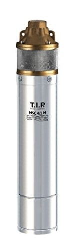 T.I.P. 30176 Peripher Tiefbrunnenpumpe Edelstahl MSC 4/1 M mit Messing-Laufrad, bis 3.000 l/h Fördermenge -