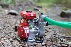 Benzin Wasserpumpe Test