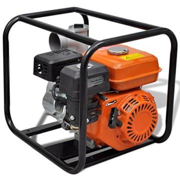 vidaXL 6,5 PS Benzin Schmutzpumpe Wasserpumpe Gartenpumpe Kreiselpumpe Teichpumpe -