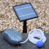 1,5 W Solar Teichbelüfter Sauerstoffpumpe Luftpumpe für Gartenteich - Pumpe für Garten, Teich, Aquarium von PK Green -