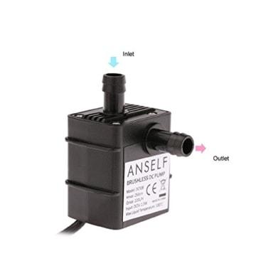 Anself USB Wasserpumpe Teichpumpe für Brunnen Aquarium und Modellbau 220L / H Auftrieb 250cm DC5V -