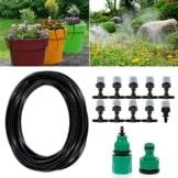 Bewässerungssystem, ikalula Drip Bewässerung Kit mit Spray Self Watering Kits für Garten Landschaft Flower Bed Terrasse Pflanzen. -