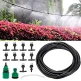Bewaesserungssystem, Migimi 10m Gartenschlauch Micro Drip System, Micro bewässerung sprinkler für Garten, Landschaft, Flower Bed, Terrasse Pflanzen -
