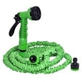 Costway Gartenschlauch Wasserschlauch Flexischlauch Bewässerungsschlauch Zauberschlauch dehnbar flexibel grün Länge 7,5m bis 60m (7,5m) -