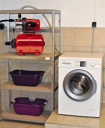 Einhell Hauswasserwerk GC-WW 1046 N (1050 W, 4600 L/h Max. Fördermenge, Max. Förderdruck 4,8 bar, Druckschalter, Manometer, 20 L Behälter) - 8
