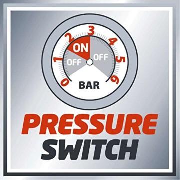 Einhell Hauswasserwerk GC-WW 1046 N (1050 W, 4600 L/h Max. Fördermenge, Max. Förderdruck 4,8 bar, Druckschalter, Manometer, 20 L Behälter) - 9