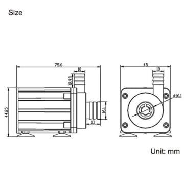 Fafada DC 12V Micro Bürstenlos Magnetpumpe Wasserpumpe Teichpumpe Flüssigkeitspumpe -