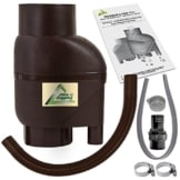 Fallrohrfilter Regensammler T 33 braun - Der REGENWASSER-FILTER für REGENTONNEN REGENFÄSSER mit bis zu 95% Wirkungsgrad mit Anschlusszubehör und Universalanschluss für alle Fallrohre 75-110mm -