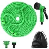 Flexibler Gartenschlauch,100 FT 30m FlexiSchlauch Wasserschlauch Schlauch Flexi Dehnbarer Wasserschlauch - Update Grün Gartenschlauch -