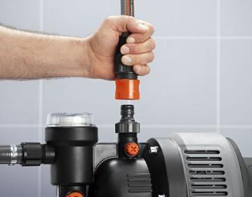 GARDENA 1753-20 Pumpe Classic Hauswasserwerk 3000/4 eco, mit Thermoschutzschalter, Rückschlagventil; Start/Stop Automatik, (650W Leistung, max. Fördermenge 2.800 l/h, max. Förderhöhe 40m) - 2