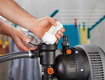 GARDENA 1753-20 Pumpe Classic Hauswasserwerk 3000/4 eco, mit Thermoschutzschalter, Rückschlagventil; Start/Stop Automatik, (650W Leistung, max. Fördermenge 2.800 l/h, max. Förderhöhe 40m) - 4