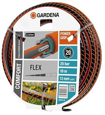 Gardena 18030-20 Schlauch Comfort FLEX, Mit Power Grip Profil und Hochwertiges Spiralgewebe (Schlauchlänge: 10m, Schlauchdurchmesser: 13mm, Berstdruck: 25 bar, ohne Schlauchstück) -