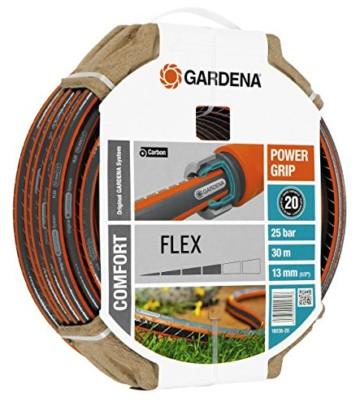 Gardena 18036-20 Schlauch Comfort FLEX, Mit Power Grip Profil und Hochwertiges Spiralgewebe (Schlauchlänge: 30m, Schlauchdurchmesser: 13mm, Berstdruck: 25 bar, ohne Schlauchstück) - 1