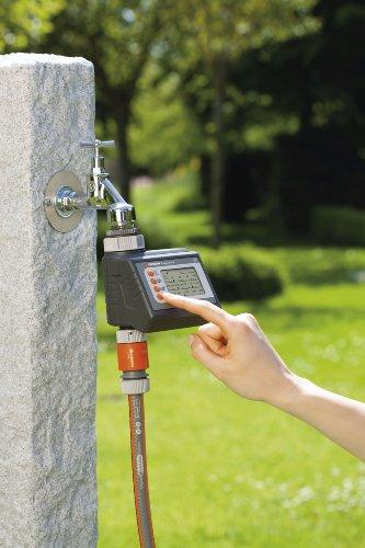 Gardena 1881-20 Bewässerungscomputer EasyControl (programmierbar: Alle 24 Stunden oder jeden 2., 3., oder 7. Tag; bis zu 3 x Täglich) maximaler Druck 0,5 - 12 bar -