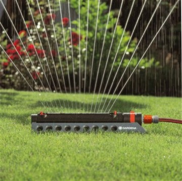 Gardena 1975-20 Regner Comfort Aquazoom 350/2 (Beregnete Fläche 28 - 350 qm; Reichweite 7 - 21 m; Sprengbreite bis 17 m ) zur Bewässerung mittlerer Rechtecksflächen - 3