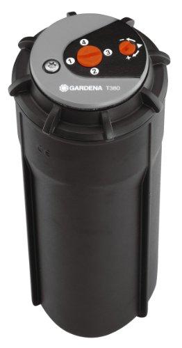 Gardena 8205-29 Turbinen Versenkregner T380, Wurfweite einstellbar, Stufenlose Sektoreneinstellung, mit Schmutzfilter, mit Rotationsdämpfer (Beregnete Fläche 80 – 200 m2, Reichweite 5 – 8 m) - 3