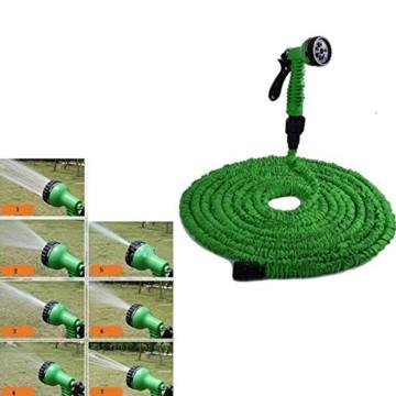 Gartenschlauch Flexibel 30 m. Wasserschlauch Hose Dehnbarer Multifunktionsbrause -