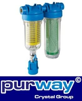 """HYDRA RAINMASTER DUO RLH CB/EC 1"""" Brunnenwasserfilter Hauswasserfilter Sand - 1"""