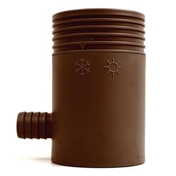 Marley Regensammler 80-105mm mit Filter, braun 1' Auslauf -