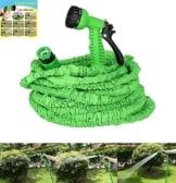 NBD® Gartenschlauch, 150Feet/45m (25Feet/7,5m) Gartenschlauch, + Abspritzbrause 7Funktionen, Gartenschlauch, flexibel und leicht ausziehbar bis 3mal mit Anschluss für Wasserhahn, schnell Verbinder und Fugendüse Multifunktions–Grün -