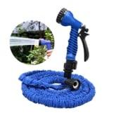 OKCS Gartenschlauch - Flexibler Schlauch bis zu 15 Metern Gartenarbeit Garten Wasserschlauch - Blau -