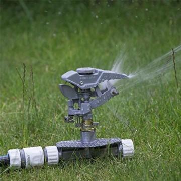 Professioneller Impulsregner aus Metall, 3-fach ErdspießHochleistungssprühanlage für den Garten, kompatibel mit Hozelock, - 2