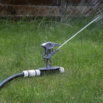 Professioneller Impulsregner aus Metall, 3-fach ErdspießHochleistungssprühanlage für den Garten, kompatibel mit Hozelock, - 1