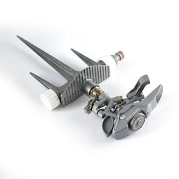 Professioneller Impulsregner aus Metall, 3-fach ErdspießHochleistungssprühanlage für den Garten, kompatibel mit Hozelock, - 6