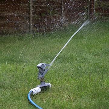 Professioneller Impulsregner aus Metall, 3-fach ErdspießHochleistungssprühanlage für den Garten, kompatibel mit Hozelock, - 9
