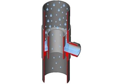 Regensammler Eslon Ø 50 und 60 mm (Grau) -