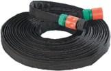 """Royal Gardineer Bewässerungsschlauch: Perlschlauch """"Eco"""" flach, inkl. Stopp-Ventil-Kupplungen, 12 m (Tropfenschlauch) -"""