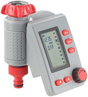Royal Gardineer Bewässerungsuhr: Digitaler Bewässerungscomputer BWC-100 mit Magnet-Ventil (Wasserschaltuhr) -