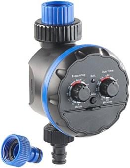Royal Gardineer Wasserzeitschaltuhr: Elektronische Bewässerungsuhr, bis 7 Tage (Zeitschalter für Bewässerung) -