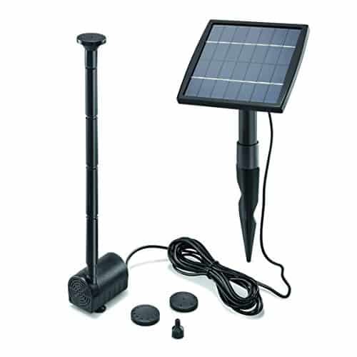 solar teichpumpe 1 5 watt solarmodul 140 l h f rderleistung 80 cm f rderh he esotec pro. Black Bedroom Furniture Sets. Home Design Ideas