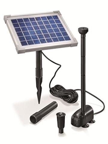 Solar Teichpumpe 5 Watt Solarmodul 470 l/h Förderleistung 0,9 m Förderhöhe Komplettset Gartenteich, 101012 -