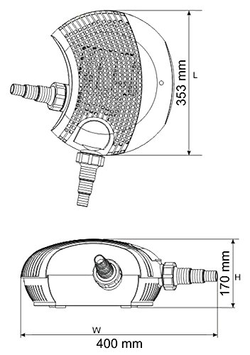 SunSun CTF1200B SuperECO Bachlaufpumpe Filterpumpe 12000l/h 100W -