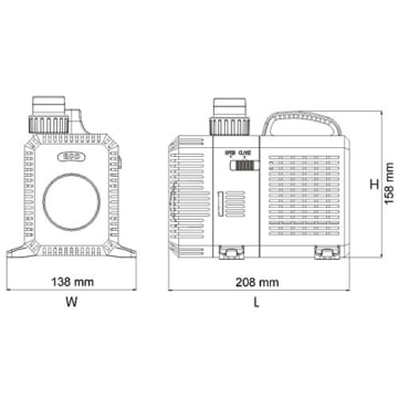 SunSun CTP-16000 SuperECO Bachlaufpumpe Filterpumpe 16000l/h 140W -