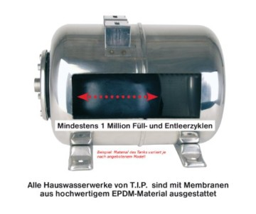 T.I.P. 31140  Hauswasserwerk HWW 4500 Inox Edelstahl - 4