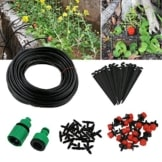 TedGem Bewässerung DIY Bewässerungssystem-Garten automatische Bewässerung automatische Sprinkler Tröpfchenbewässerung Gartenbewässerung -20m DIY Automatik Micro Drip Kit -