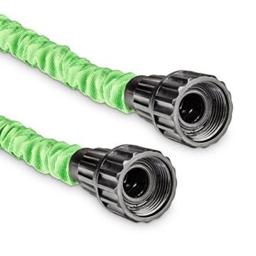 tillvex flexiSchlauch - flexibler Gartenschlauch 30m ausgedehnt, Testurteil GUT, Wasserschlauch flexibel, Gartenteichschlauch dehnbar -