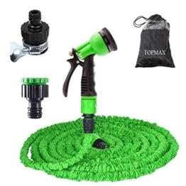 TOPMAX Flexi Magie 30 Meter/100 FT Wasserschlauch Flexibel grün Gartenschlauch Wonder X-Schlauchhosen Expander (3-mal Dehung) -