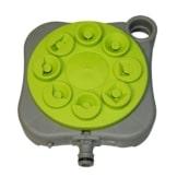 Xclou Rasensprenger zur Gartenbewässerung - Sprinkleranlage für den Garten Sprinkler, Grau / Grün, 20 x 4 x 17.5 cm - 1