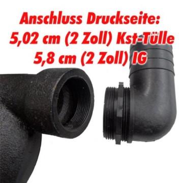 Agora-Tec® AT- Baupumpe-C 1300W (mit Schneidwerk) Tauchpumpe für Schmutzwasser, Abwasser, für Fäkalien und organische Feststoffe mit Schwimmerschalter und max: 1,05 bar und max: 17500l/h - 3