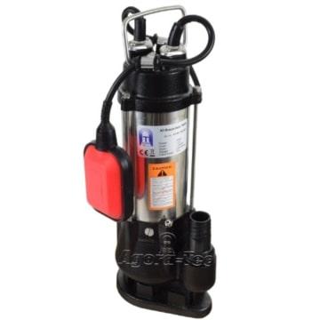 Agora-Tec® Baupumpe-180W Tauchpumpe für Schmutzwasser, Abwasser, für Fäkalien und organische Feststoffe mit Schwimmerschalter und max: 0,75 bar und max: 7000l/h - 1